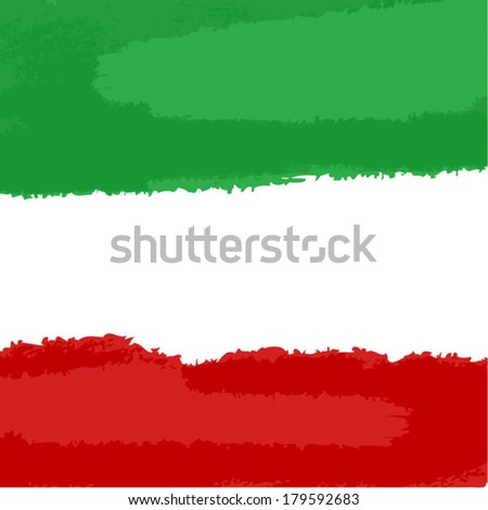 square flag of Italy - stock vector