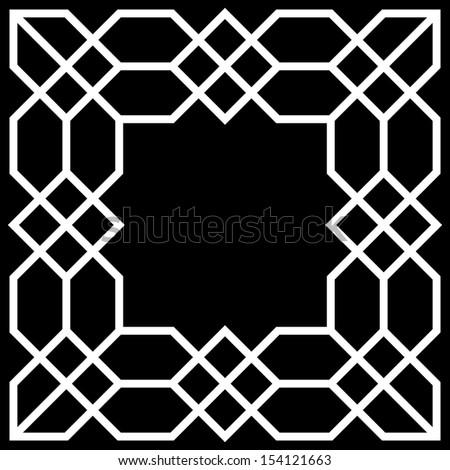 Square frame vector - stock vector