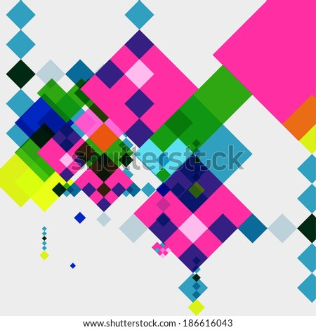 Square geometrical abstract background - stock vector