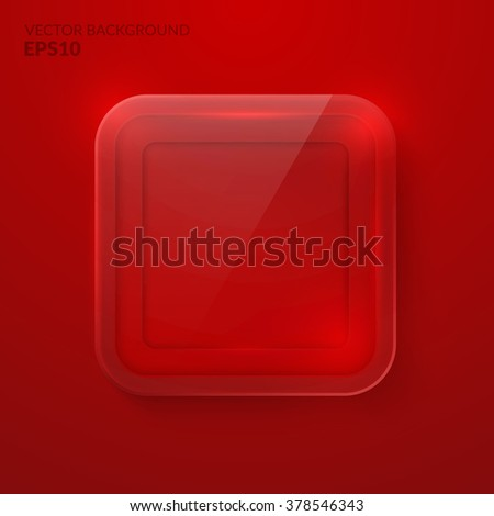 Square glass background. The Stock vector eps10 - stock vector