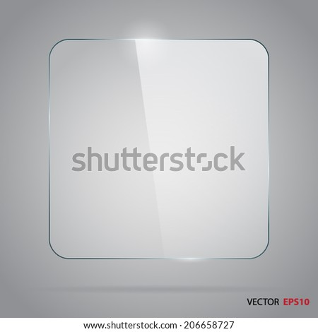 Square glass panel. - stock vector