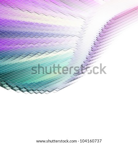 Square pixel mosaic. EPS 8 vector file included - stock vector