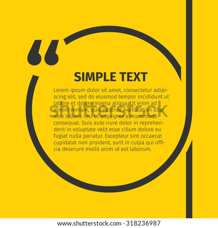Square quote text bubble. Inspirational Quote. Text Speech Bubble. You can do anything. Vector illustration. - stock vector
