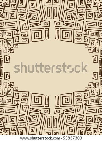 Square Spiral - stock vector