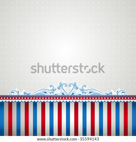 square usa background with stars - stock vector