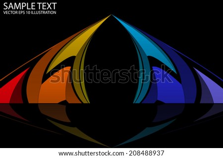 Squared vector rainbow colored background  illustration - Vector abstract rainbow colorful template reflected - stock vector