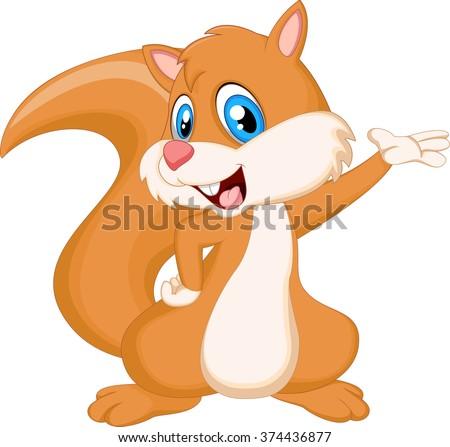 squirrel cartoon - stock vector