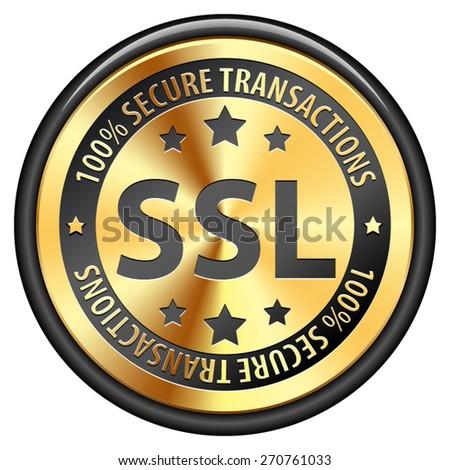 SSL 100% Safety Guarantee - stock vector