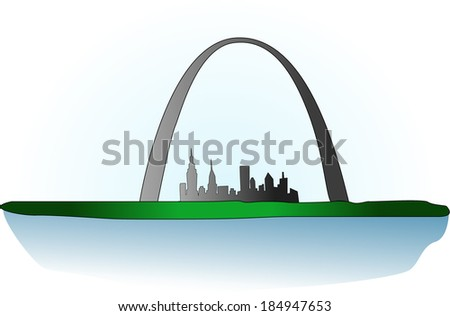 St Louis Arch - stock vector