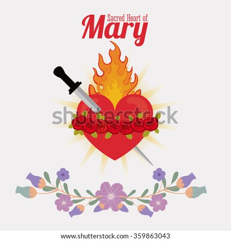 st mary the virgin design  - stock vector