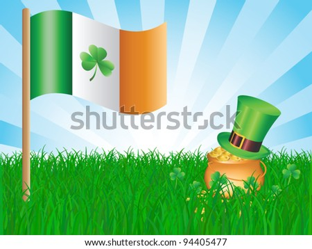 St. Patrick day card - stock vector