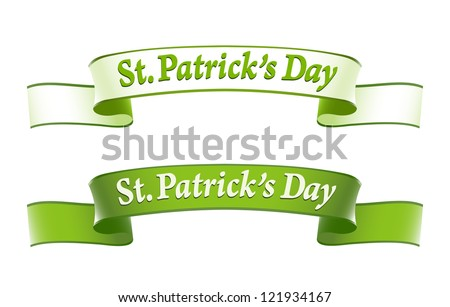 St.Patrick's Day banners - stock vector