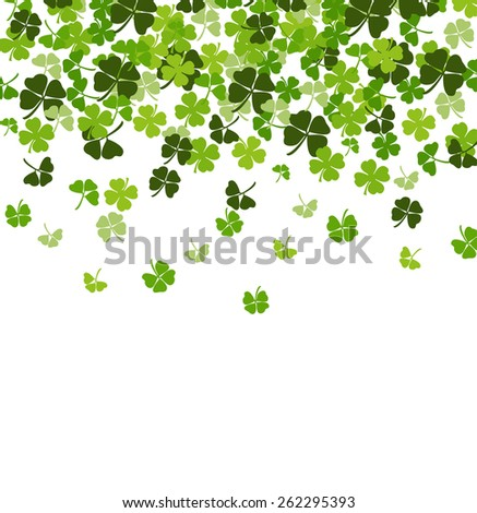 St. Patrick's day vector background with shamrock - stock vector