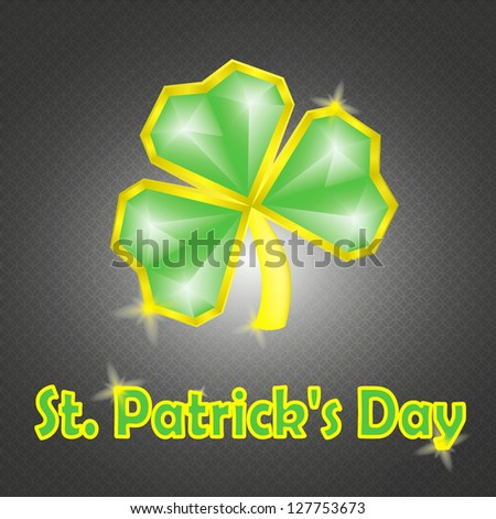 St. Patrick's greeting card - stock vector