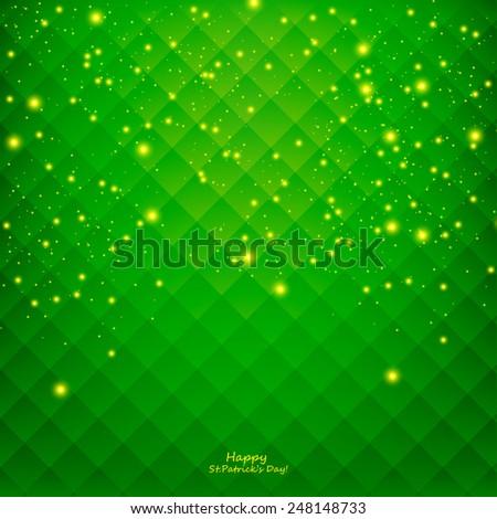 St. Patricks Day Card - stock vector