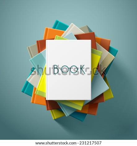 Stack of books, eps 10 - stock vector