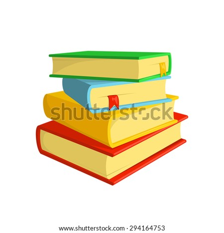 Stack of books. Isolated icon pictogram.  - stock vector