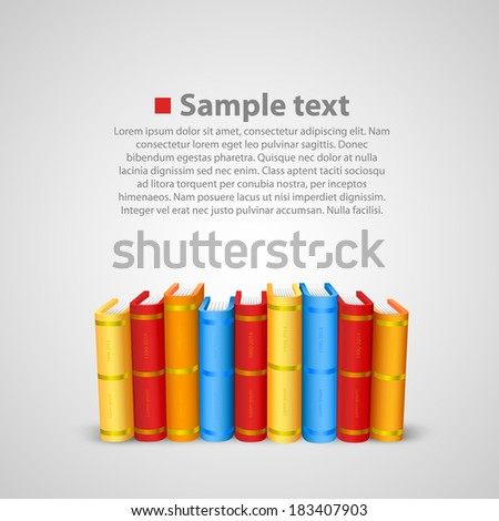 Stack of books. Vector  - stock vector