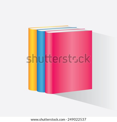 Stack of colorful books. Template. Vector illustration - stock vector