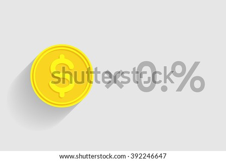 Stack of gold coins with dollar sign as element of financial business-formula. Tax percentage, profit interest and other economic indicators - stock vector