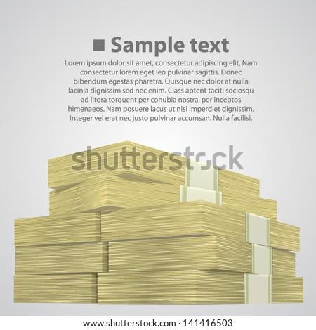 stack of money - stock vector
