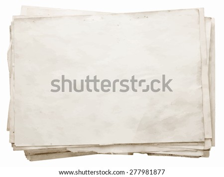 stack of old papers, vector  - stock vector