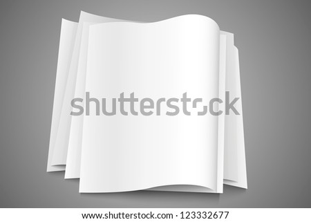 stack of paper - stock vector