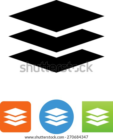 Stack of paper symbol.  - stock vector