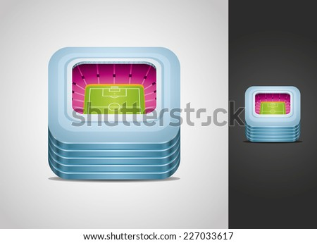 Stadium icon - stock vector