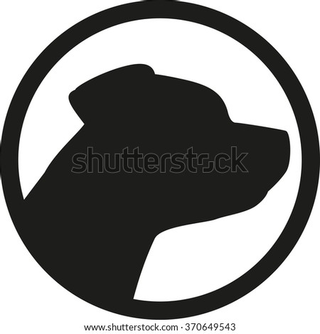 Staffordshire head in a circle - stock vector