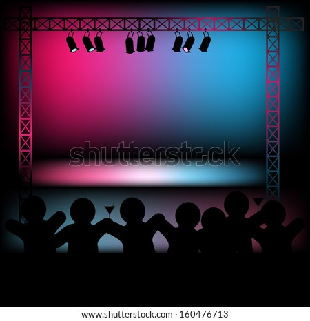 Stage - stock vector