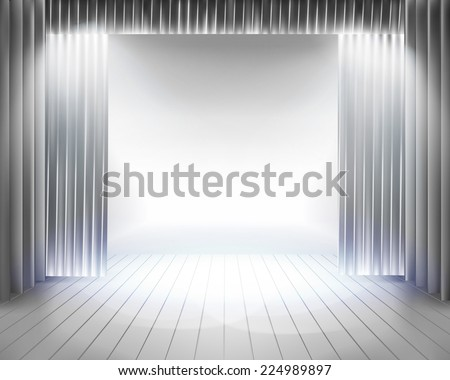 Stage curtain. Vector illustration. - stock vector