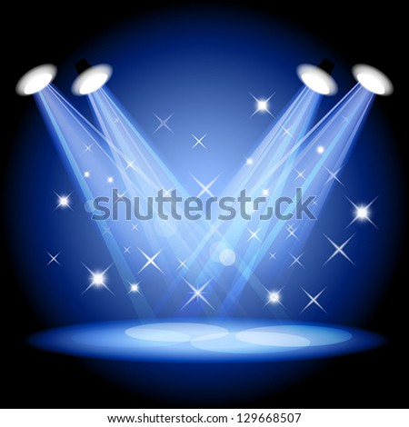 Stage light. Mesh. EPS10. This file contains transparency. - stock vector