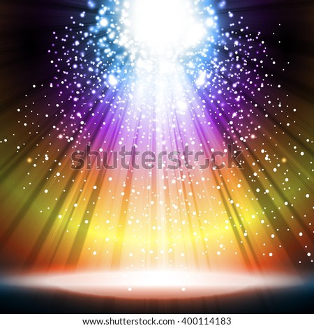 stage light spotlight empty scene illustration easy all editable - stock vector