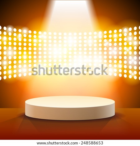 Stage Lighting Background with Spot Light Effects - vector illustration - stock vector