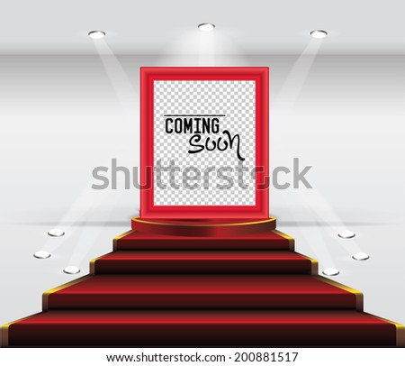 Stage spotlight effect ,And Blank frame for your photo,vector - stock vector