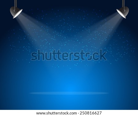 Stage spotlights with stars. Vector illustration eps10 - stock vector