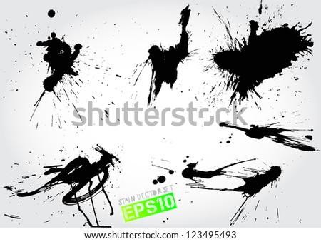 stain vector set - stock vector