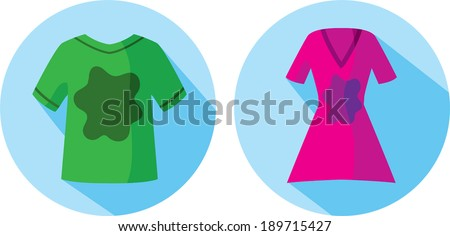 Stained clothes icon  - stock vector