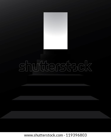 STAIRS ISOLATED ON BLACK BACKGROUND - stock vector