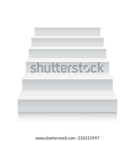 Stairs isolated on white background. Steps. Vector illustration - stock vector