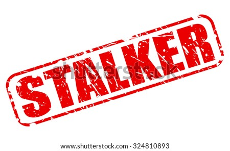 STALKER red stamp text on white - stock vector