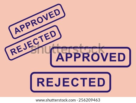 """Stamp """"approved"""" and """"rejected"""" - stock vector"""