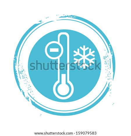 stamp cold - stock vector
