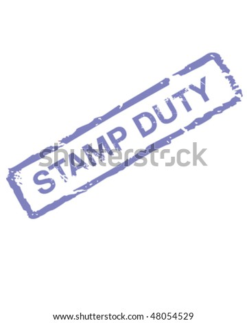 Stamp Duty - stock vector