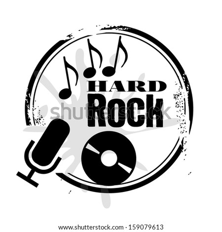stamp hard rock - stock vector