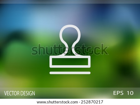 Stamp icon vector - stock vector