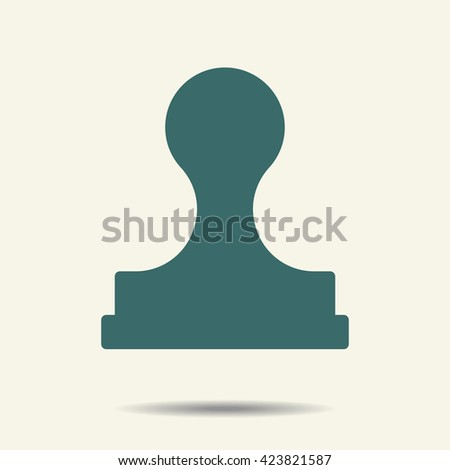 Stamp icon vector on the white background with shadow Stamp icon, Stamp icon vector, Stamp icon picture, Stamp icon flat, Stamp icon web, Stamp icon art, Stamp icon, Stamp icon object - stock vector