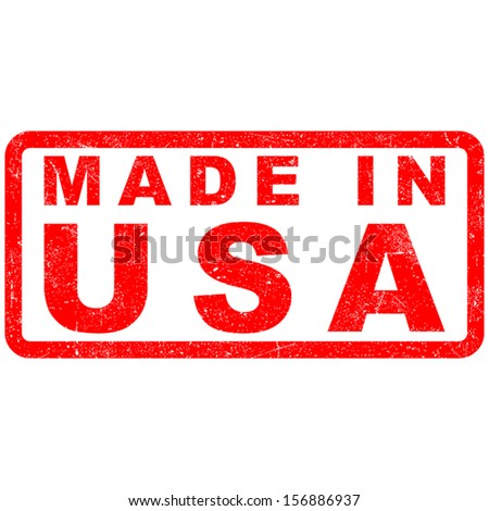 Stamp of Made in USA - stock vector