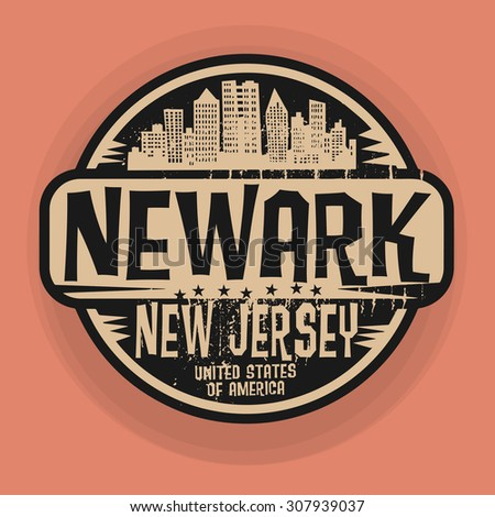 Stamp or label with name of Newark, New Jersey, vector illustration - stock vector